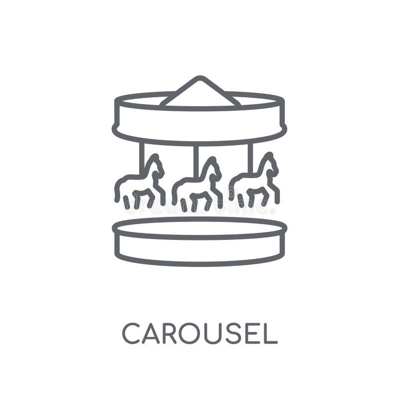 Carrousel lineair pictogram Modern het embleemconcept van de overzichtscarrousel op wh vector illustratie