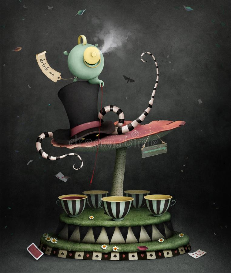 Carrousel magique illustration stock