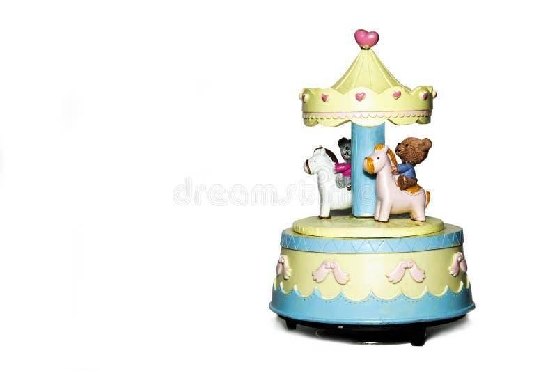 Carrousel met paard op de lichte achtergrond royalty-vrije stock fotografie