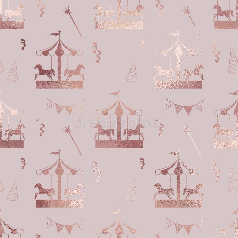 carrousel Nam goud toe Elegante textuur royalty-vrije illustratie