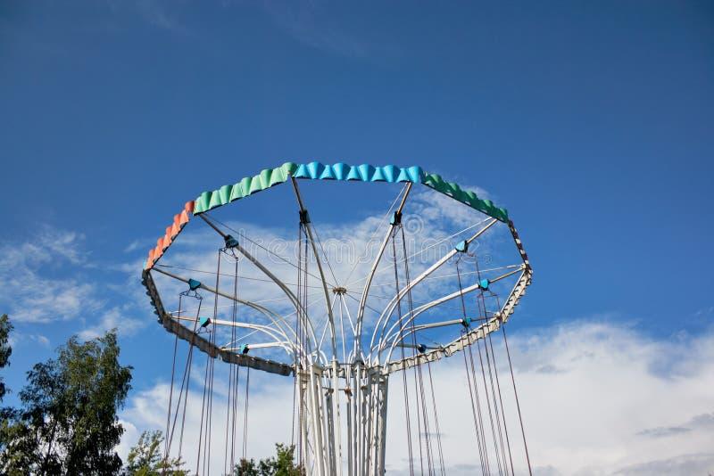 Carrousel in Park stock foto's