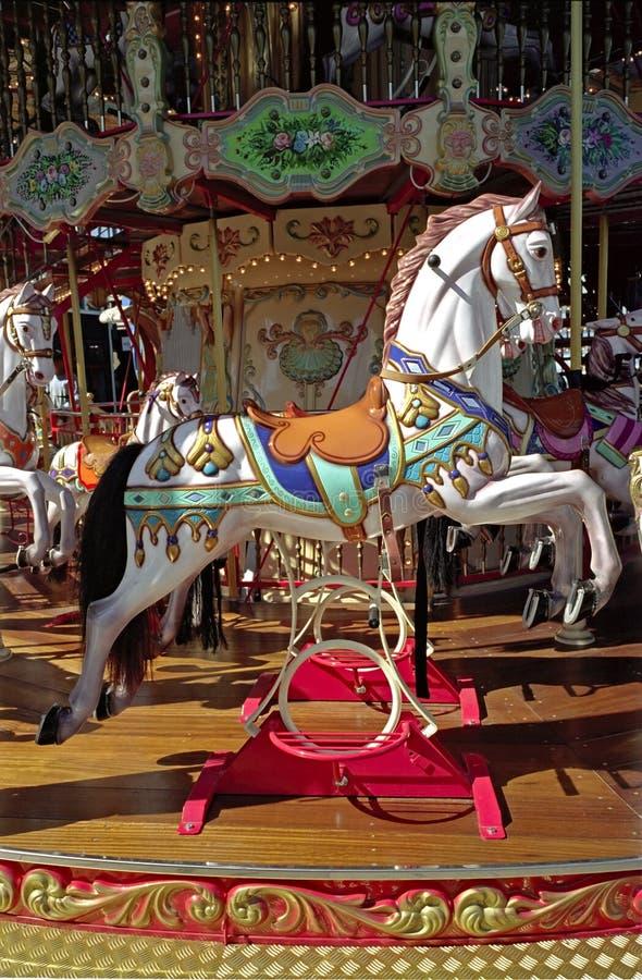 Carrousel in San Francisco Californië stock foto's