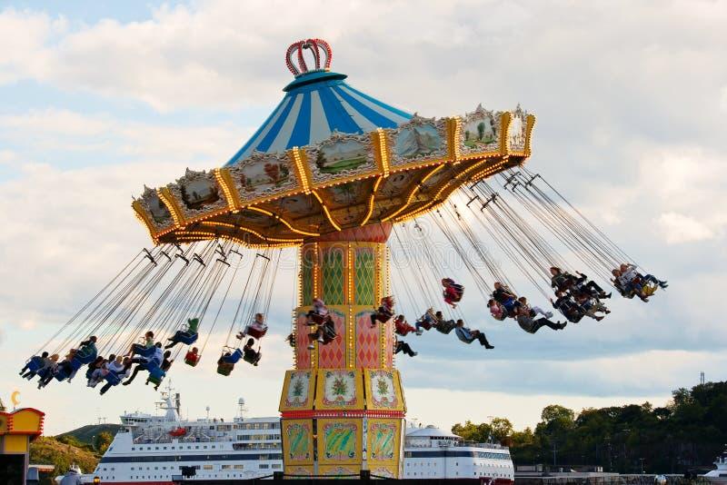 Carrousel in Stockholm stock fotografie