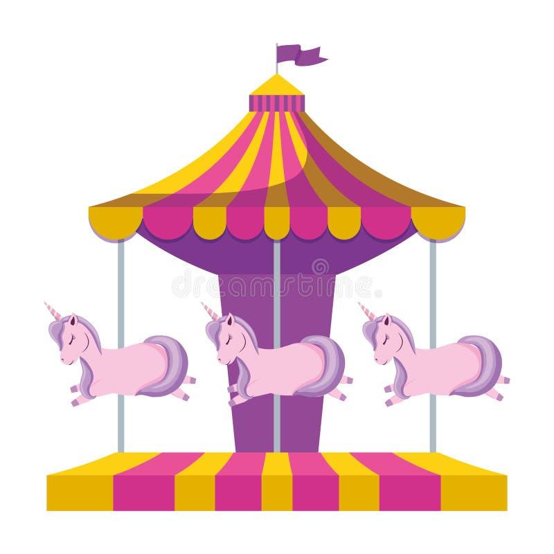 Carrousel van pretpark vector illustratie