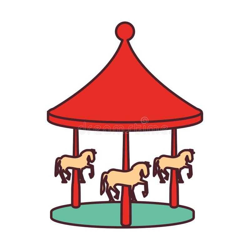 Carrousel van pretpark stock illustratie