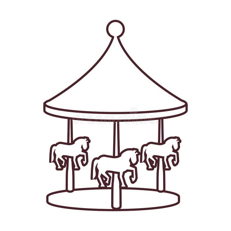 Carrousel van pretpark royalty-vrije illustratie