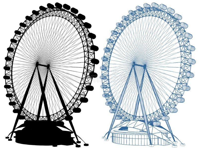 Carrousel VectordieIllustratie op Witte Achtergrond wordt geïsoleerd royalty-vrije illustratie