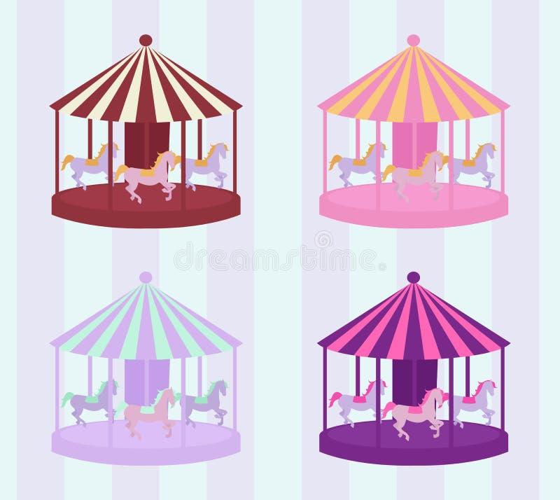 Carrouselreeks royalty-vrije illustratie