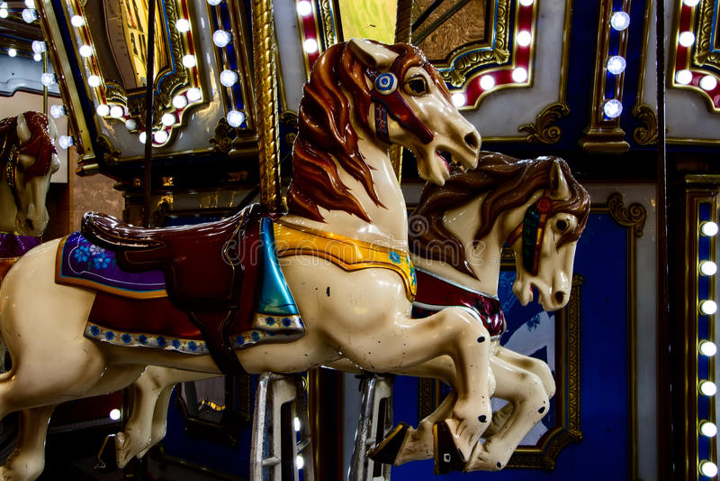 carrousels royalty-vrije stock fotografie