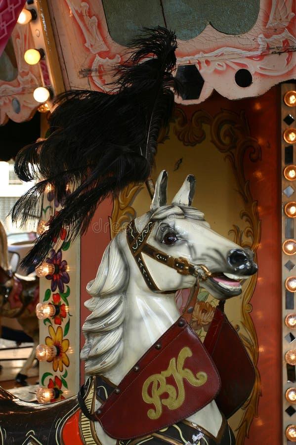 carrousselhäst royaltyfri foto