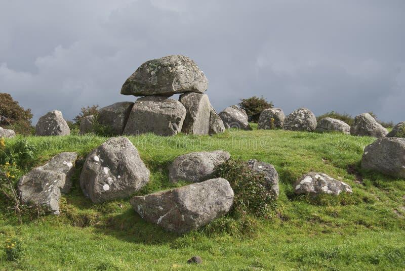 carrowmore巨石 库存图片
