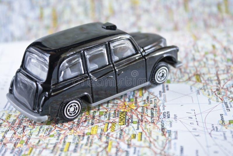 Carrozza nera iconica di Londra immagini stock
