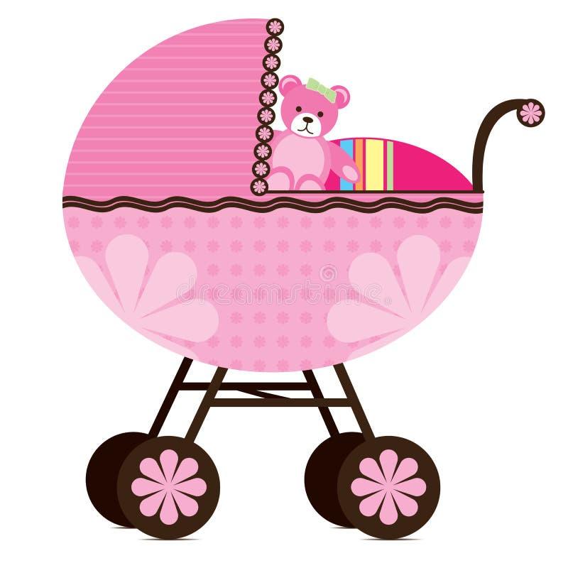 Carrozzina per la neonata illustrazione di stock