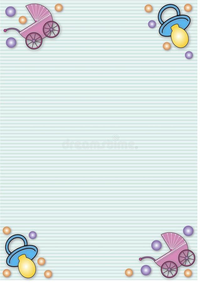 Carrozzini e soothers illustrazione vettoriale