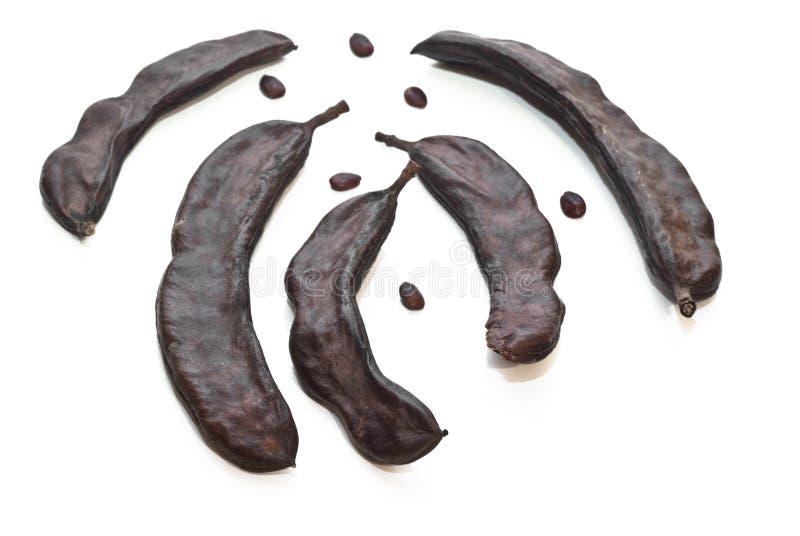 Carrubba и семена карата стоковые фото