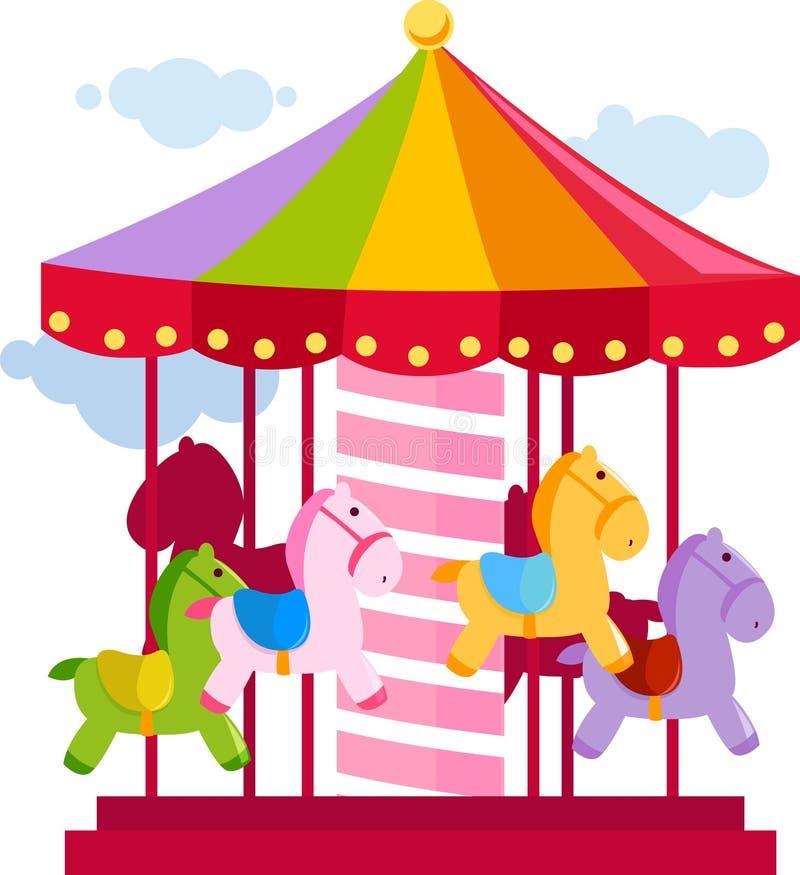 Carrusel stock de ilustración