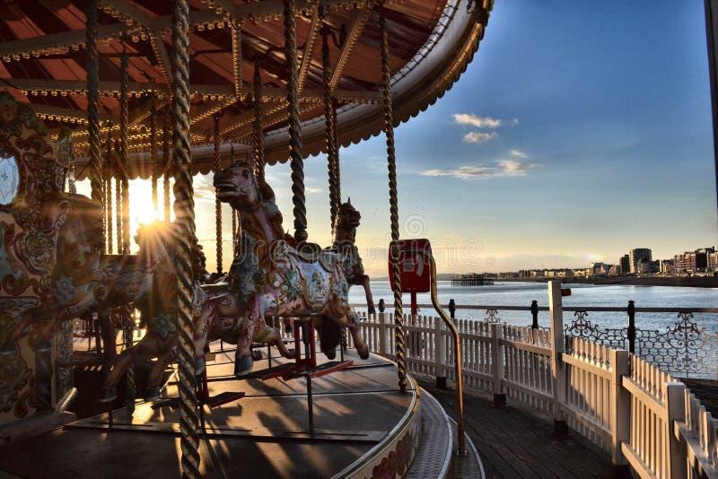 Carrusel de pilier de Brighton photos libres de droits