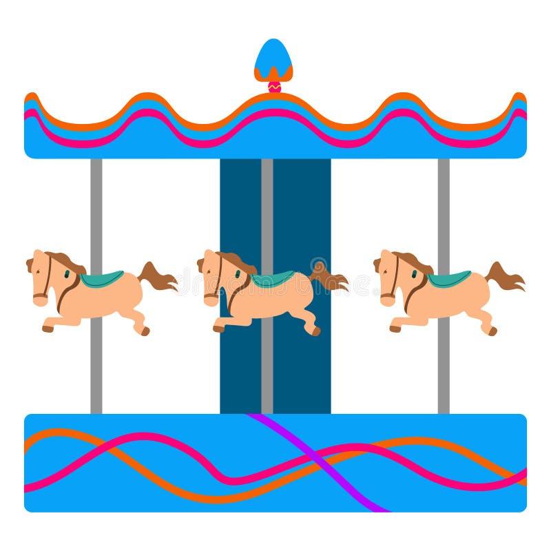 Carrusel del caballo ilustración del vector