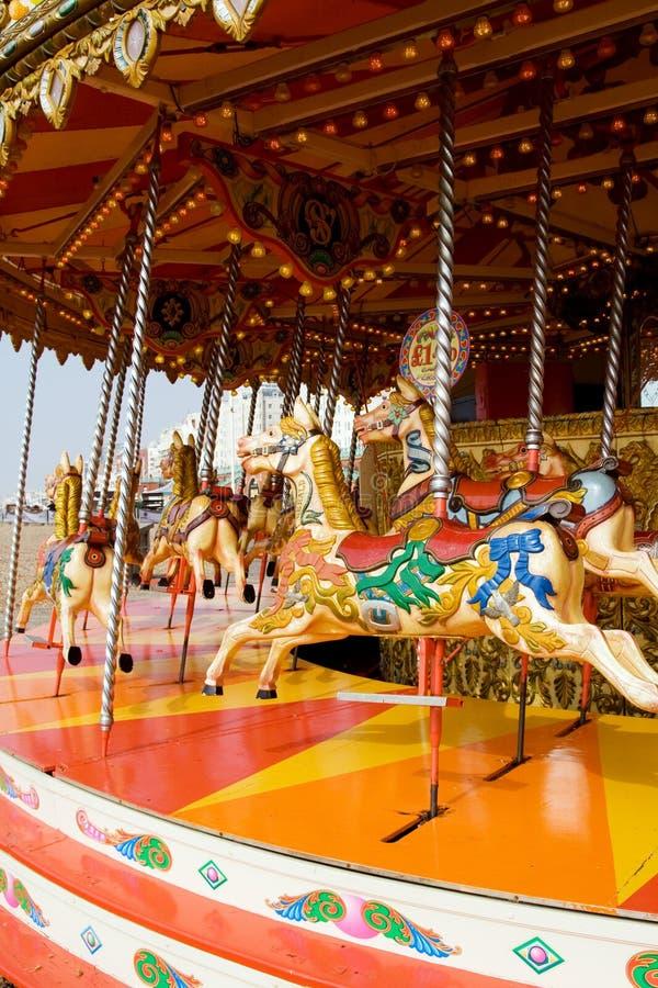 Carrusel del caballo del Funfair imagen de archivo libre de regalías