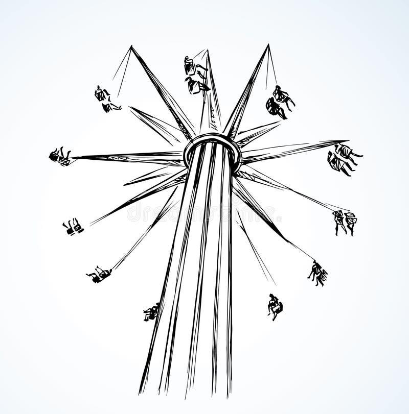 carrusel Gráfico del vector stock de ilustración