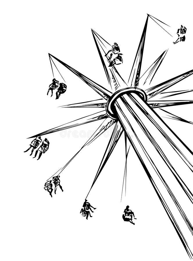 carrusel Gr?fico del vector libre illustration