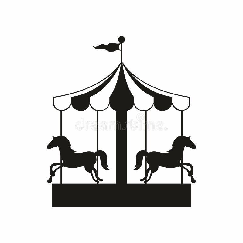 carrusel Ilustración del vector para el diseño stock de ilustración