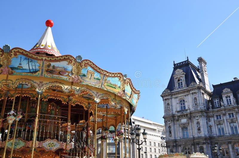 Carrusel parisiense imágenes de archivo libres de regalías