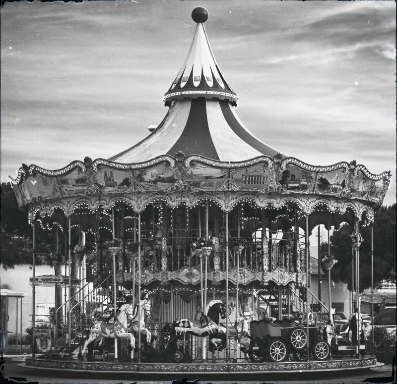 Carrusel retro imagen de archivo