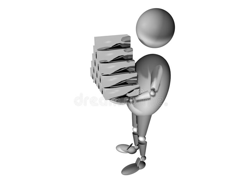 Download Carry silver stock illustration. Image of carrying, carry - 11608126