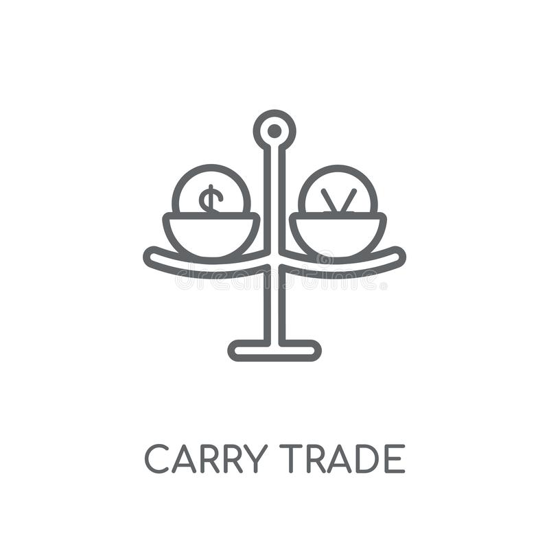 Carry trade linear icon. Modern outline Carry trade logo concept stock illustration