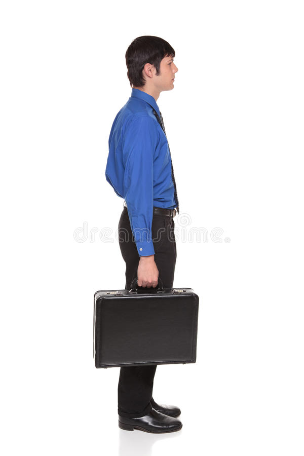 Carrying briefcase - Caucasian businessman stock photos