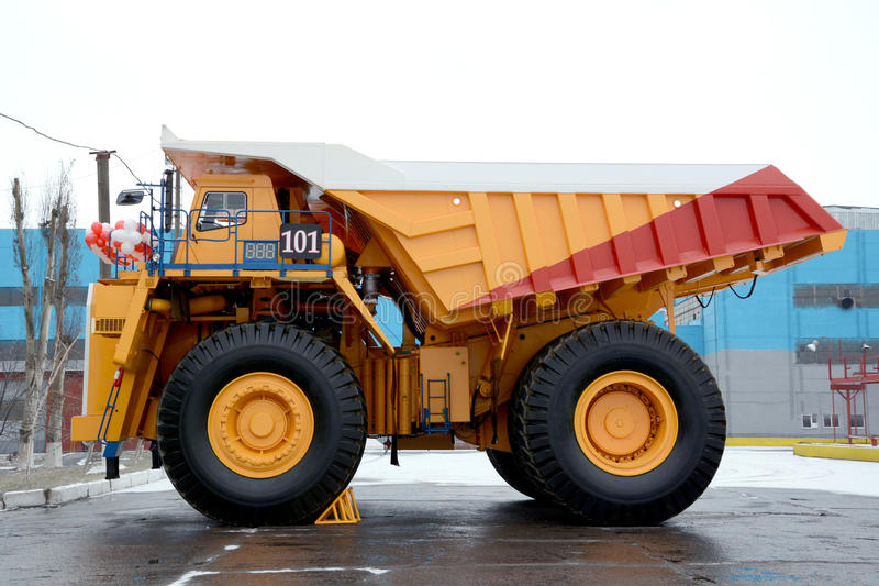 A carrying capacity is 220 tons. Heavy ������������.Intended for transportation of ore mass in a royalty free stock photos