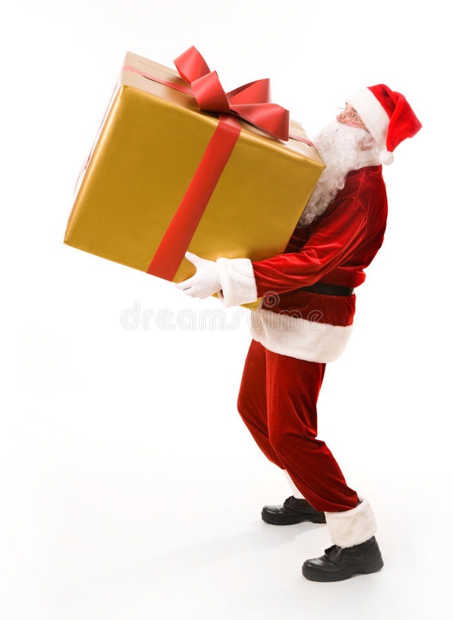 Carrying giftbox royalty free stock photo