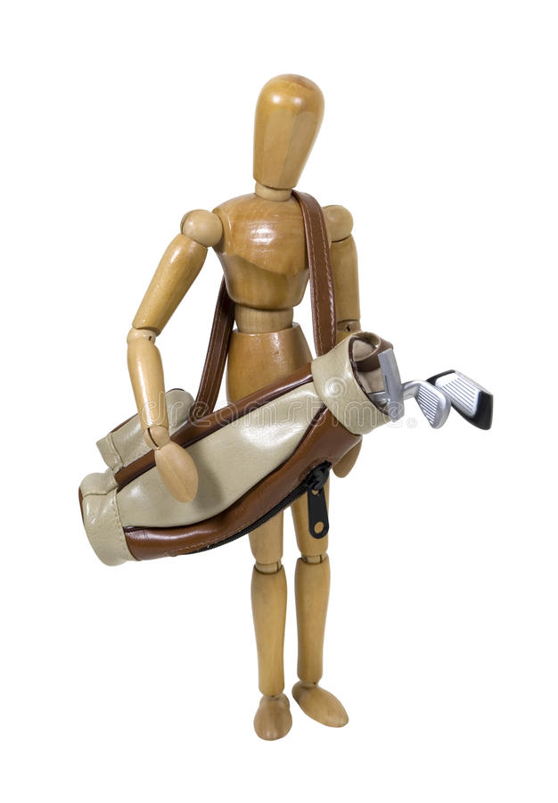 Download Carrying Golf Bag And Clubs Stock Photo - Image: 12152946