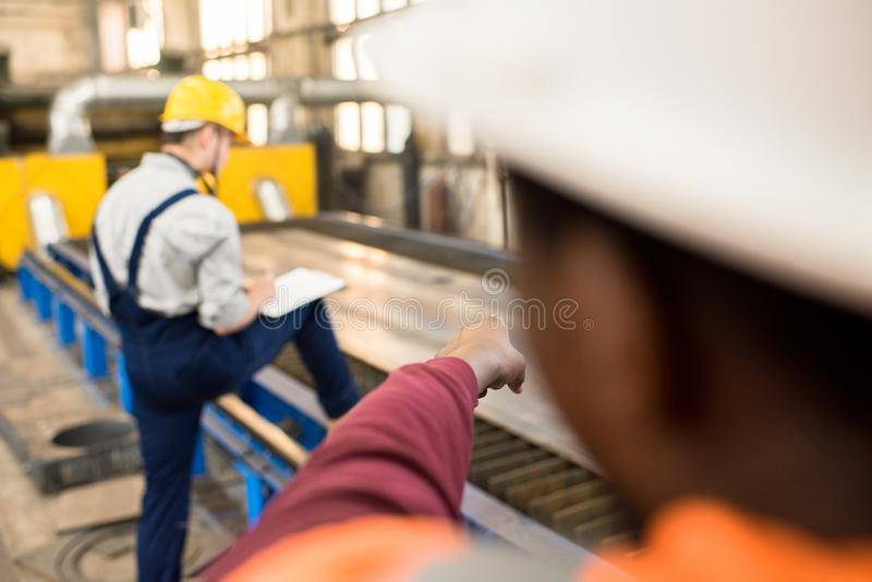 Carrying out Inspection with Accuracy stock photos