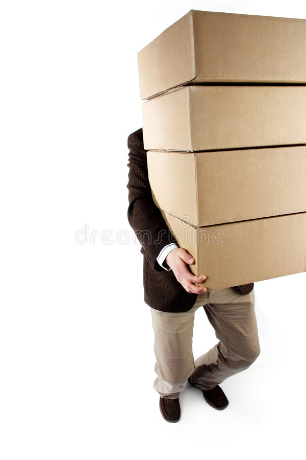 Download Carrying packages stock image. Image of over, boxes, move - 668323
