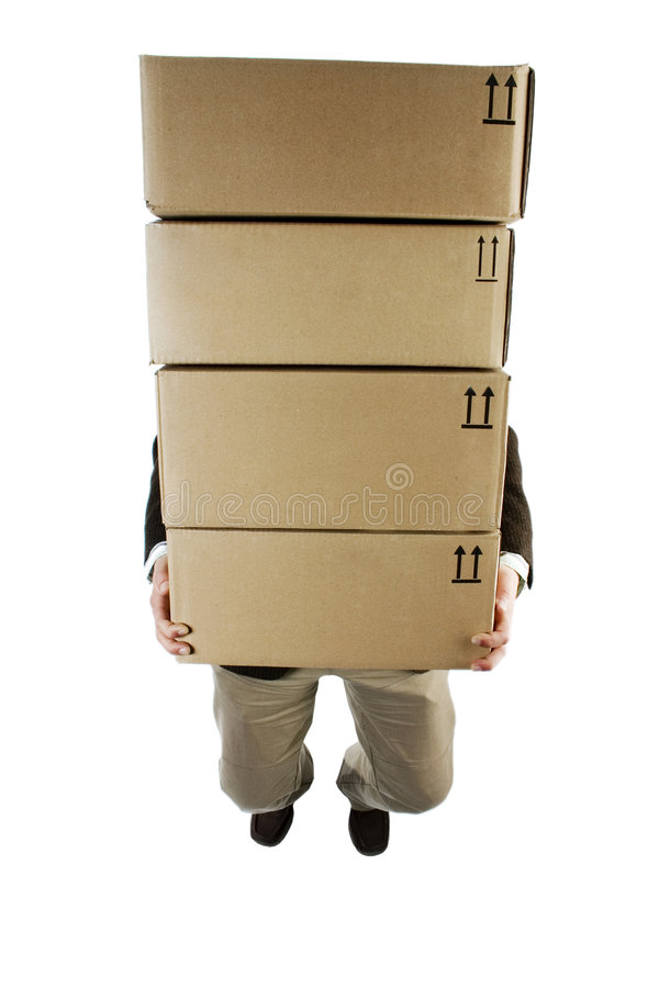 Carrying packages stock photography