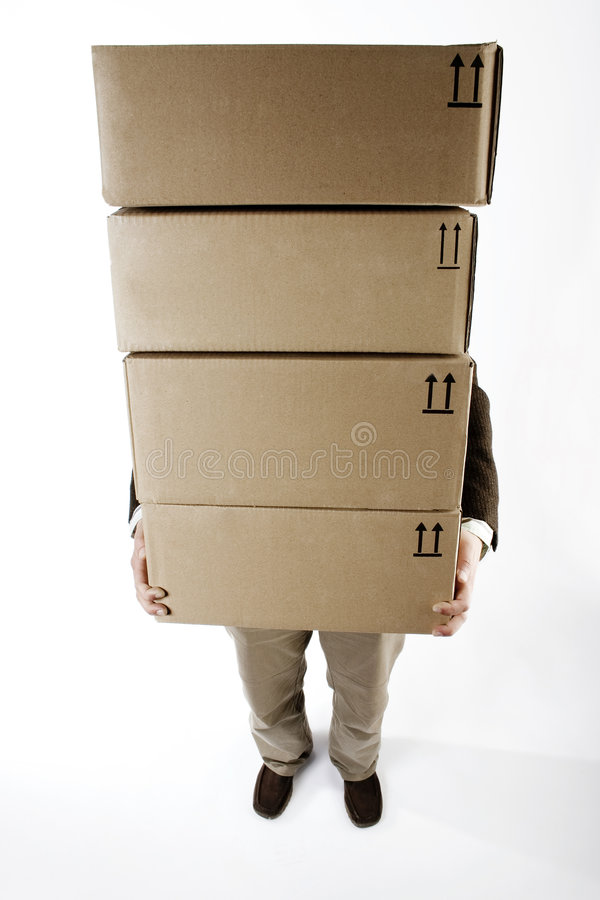 Carrying Packages Stock Photo