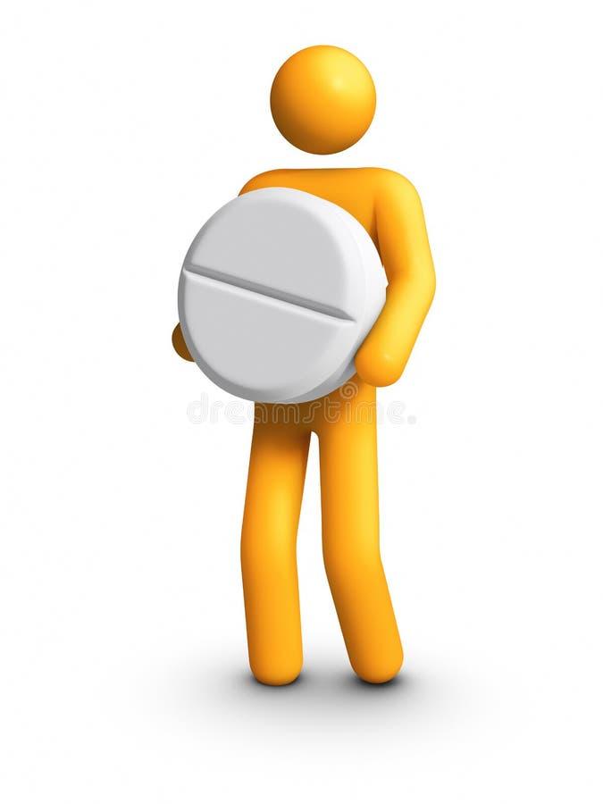 Download Carrying pill stock illustration. Illustration of medicine - 20651315