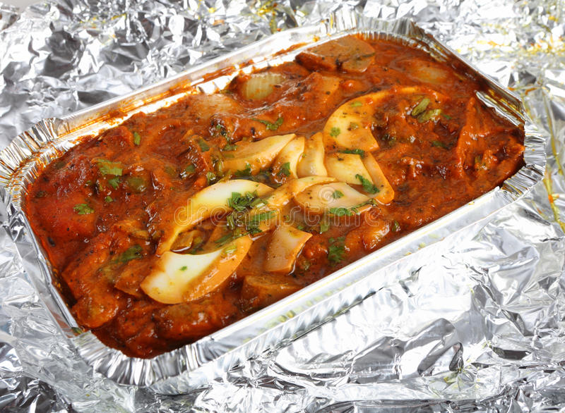 Carryout jalfrezi цыпленка стоковая фотография rf
