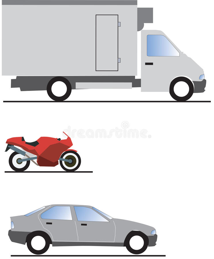 Download Cars stock vector. Image of moto, float, load, jeep, compact - 10525961