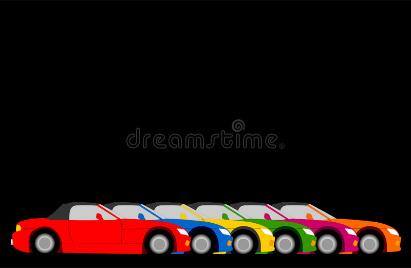 Cars. Illustrations of sports cars stock illustration