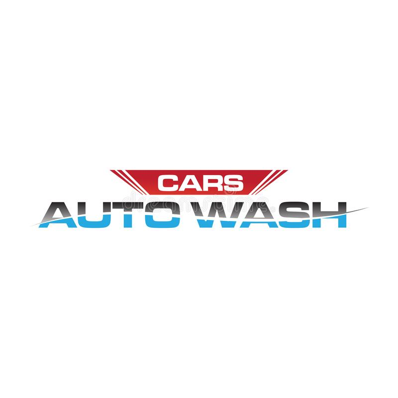 CARS auto wash logo for car washing company stock illustration