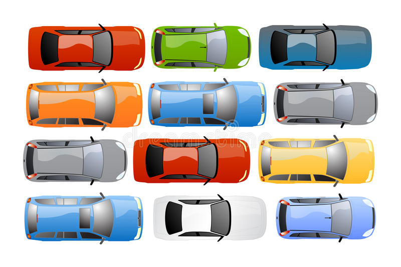 Cars background vector royalty free illustration