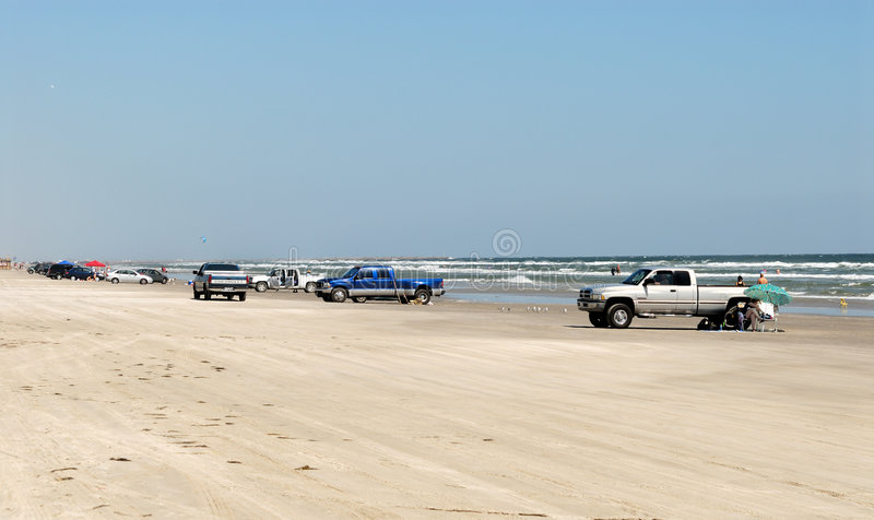Download Cars On The Beach Of Padre Island Stock Image - Image: 6977913