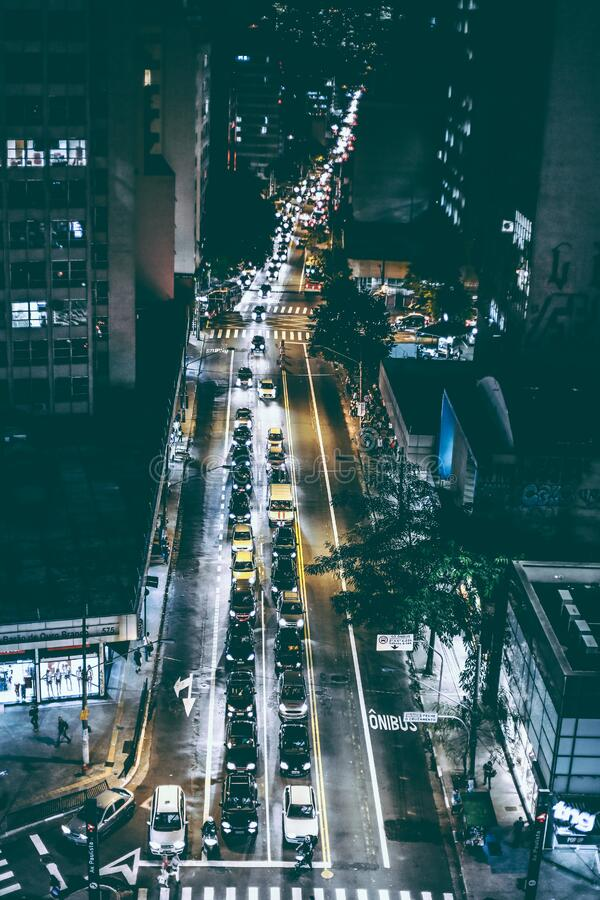Cars On Black Asphalt Road During Nighttime Free Public Domain Cc0 Image