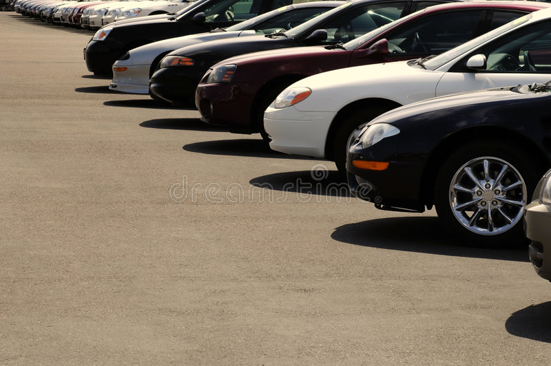 Cars on Car Lot stock photography