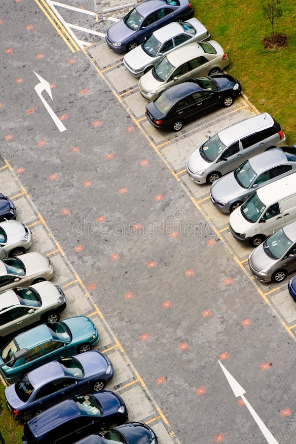 Cars in carpark. Rows of cars in a public carpark royalty free stock photos