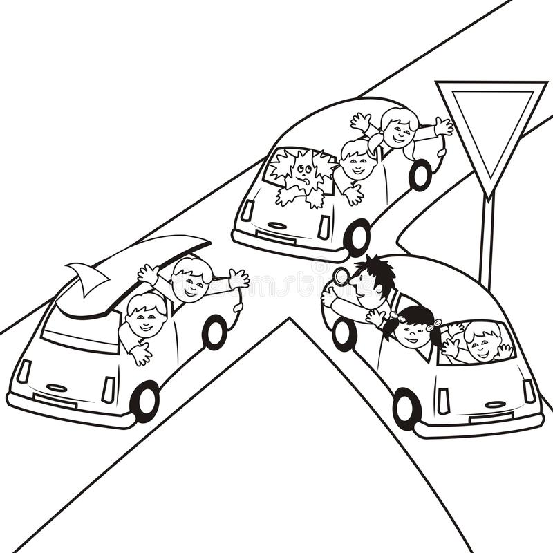 Download Cars Coloring Book Royalty Free Stock Photos