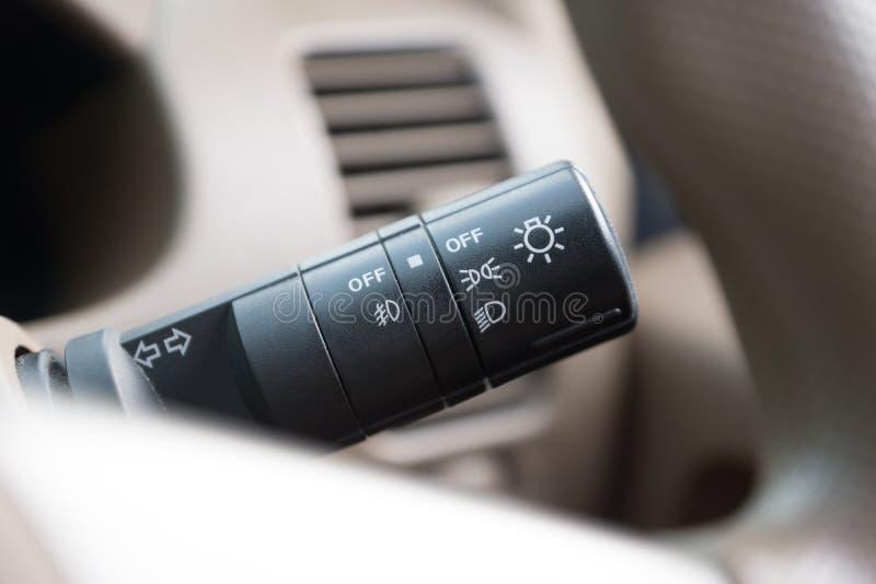 Cars control panel part stock photo